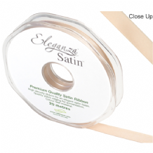 Champagne Double Faced Satin Ribbon 10mm x 20m (Eleganza) 1pc